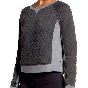 Zella • Quilted Crop Colorblocked Sweatshirt